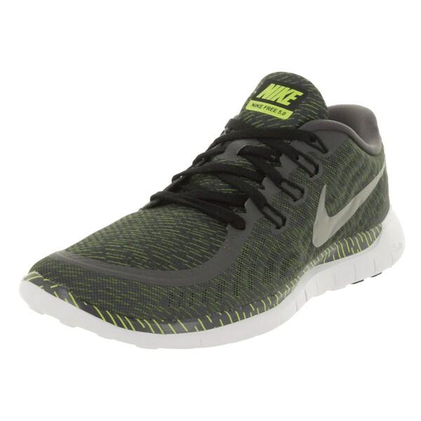 005d69e0ab60c Shop Nike Men s Free 5.0 Print Dark Grey Rflct Silver White Running ...