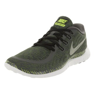 Nike Men's Free 5.0 Print Dark Grey/Rflct Silver/White Running Shoe