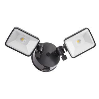 Lithonia Lighting OLF 2SH 40K 120 PE BZ M4 2-Head Dusk to Dawn Outdoor LED Black/ Bronze Square Flood Light