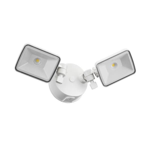 lithonia lighting olf 2sh 40k 120 wh m4 2 head outdoor led white. Black Bedroom Furniture Sets. Home Design Ideas