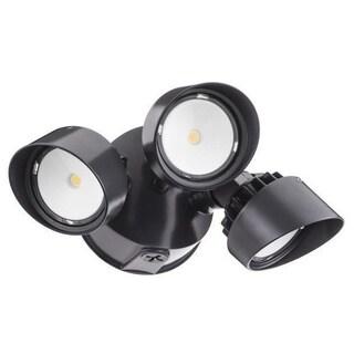 Lithonia Lighting OLF 3RH 40K 120 BZ M4 3-Head Outdoor LED Black/ Bronze Round Flood Light