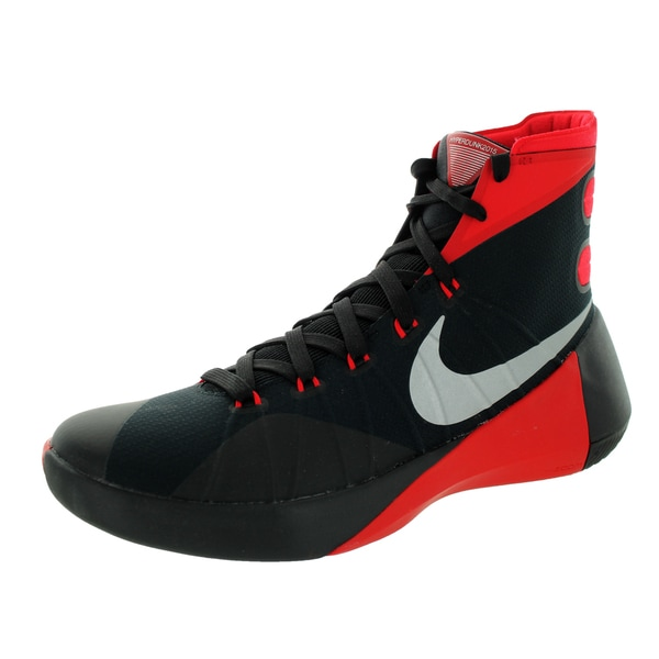 sports shoes 6bc39 b2936 Nike Men  x27 s Hyperdunk 2015 Black Mlc Silver University Red Basketball