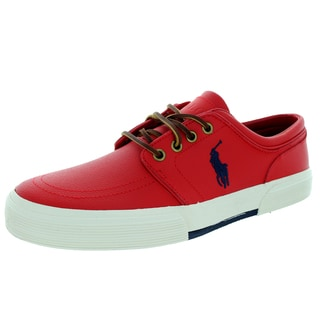 Polo Ralph Lauren Men's Faxon Low Rl2000 Red Leather Casual Shoe