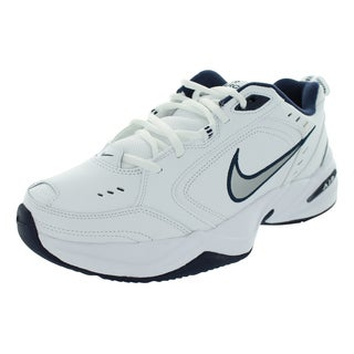 Nike Air Monarch Iv Training Shoes White/Metallic Silver-Mid Navy