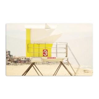 KESS InHouse Bree Madden 'Yellow Tower' Artistic Aluminum Magnet