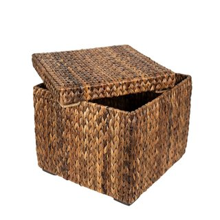 BirdRock Home Woven Seagrass Storage Cube