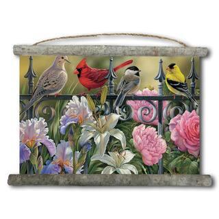 WGI Gallery 'Songbird Elements' 18-inch x 25-inch Canvas Wall Scroll|https://ak1.ostkcdn.com/images/products/12119175/P18979048.jpg?impolicy=medium