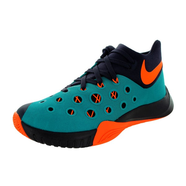 5d3f25fd6dbd Nike Men  x27 s Zoom Hyperquickness 2015 Rdnt Emerald Orange Cv Purple