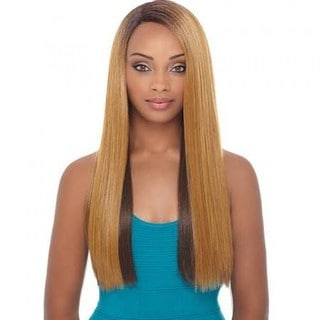 Janet Collection Bisa Black Super-flow Deep Part Lace Wig