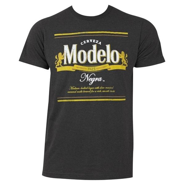 Modelo Negra Mens Grey Cotton Polyester Graphic T-shirt