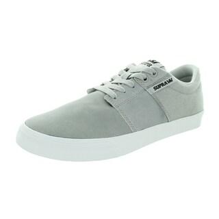 Supra Men's Stacks Vulc Ii Light Grey/White Skate Shoe