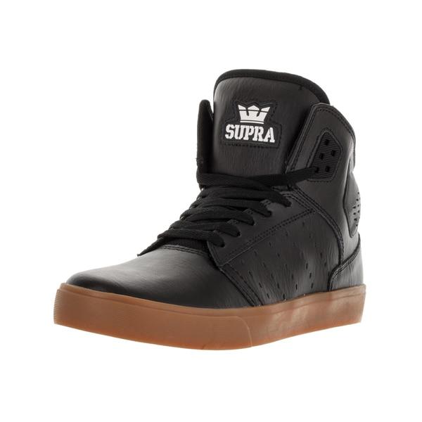 6c86d6a9792 Shop Supra Men's Atom Black/Gum Skate Shoe - Free Shipping Today ...