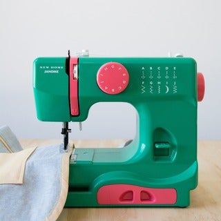 Janome Watermelon Crush Green Aluminum Basic Easy-to-use 10-stitch Portable Compact 5-pound Sewing Machine with Free Arm