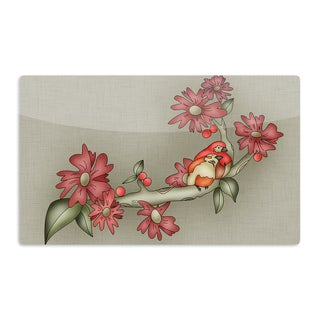 KESS InHouse Carina Povarchik 'Feng Shui' Red Brown Artistic Aluminum Magnet