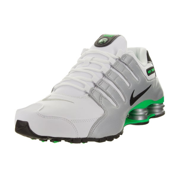 quality design e17d6 ee740 Nike Men  x27 s Shox Nz White Black Metallic Silver G