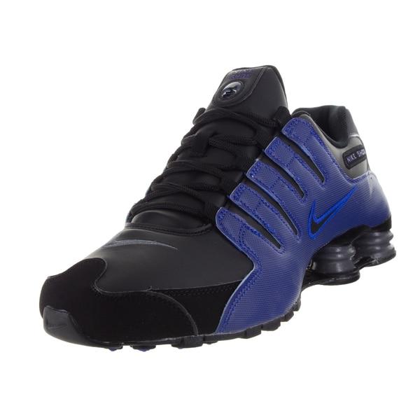 competitive price 04109 cb03d Nike Men's Shox Nz Black/Black/Racer Blue/Dark Grey Running Shoe