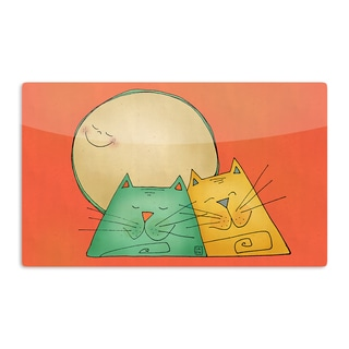 KESS InHouse Carina Povarchik '2 Gatos Romance' Love Cats Artistic Aluminum Magnet