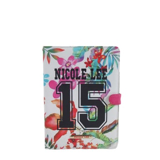 Nicole Lee White Plastic/Synthetic Leather 15 Print iPad Mini Case