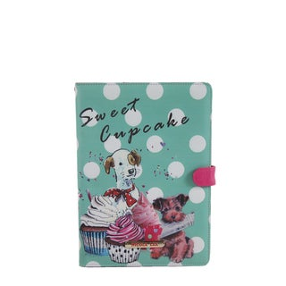 Nicole Lee 'Cupcake Dog' Print Multicolored Faux Leather/Plastic iPad Mini Case