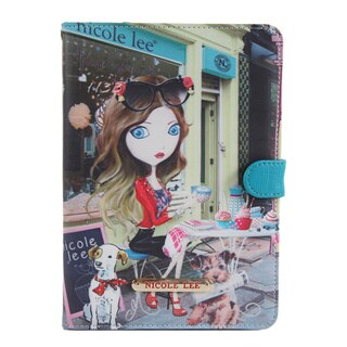 Nicole Lee Multicolor Plastic/Synthetic Leather Cupcake Girl Print iPad Mini Case