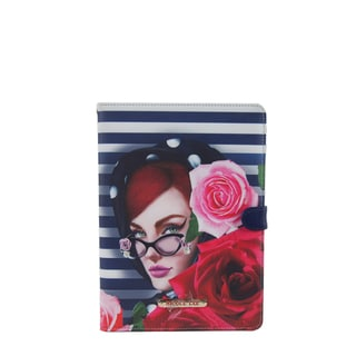 Nicole Lee Multicolor Plastic/Synthetic Leather Lady in Red Print iPad Mini Case