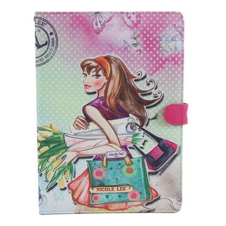 Nicole Lee Multicolored Plastic/Synthetic Leather Tulip Girl Print iPad Mini Case
