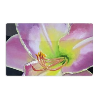 KESS InHouse Cathy Rodgers 'Violet and Lemon' Purple Green Artistic Aluminum Magnet