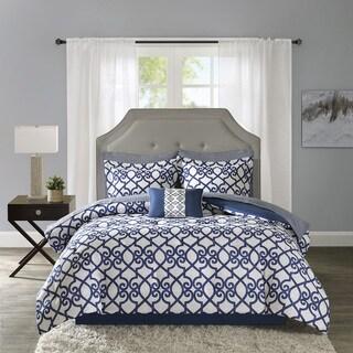 Madison Park Essentials Crystal Navy Complete Bed Set