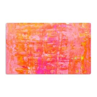KESS InHouse CarolLynn Tice 'Wiggle' Orange Artistic Aluminum Magnet
