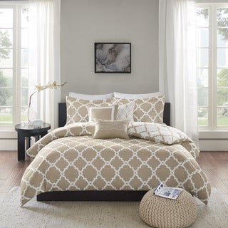 Madison Park Diablo Taupe Duvet Cover Set