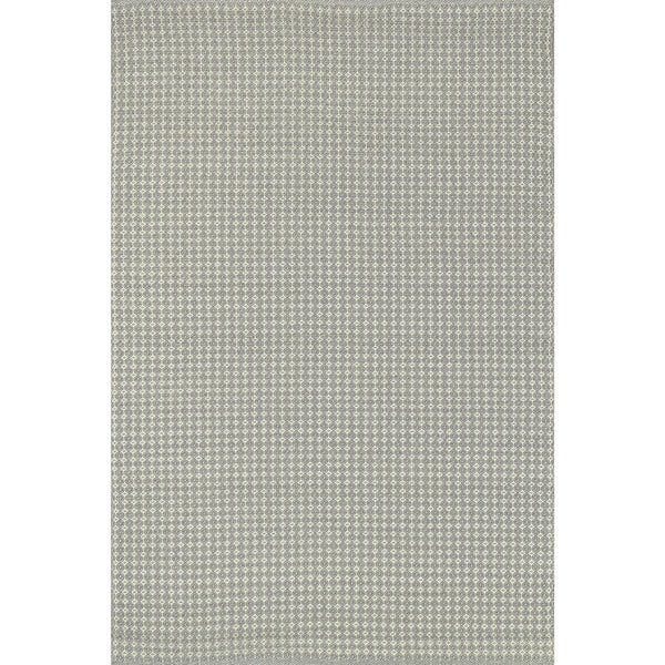 Indoor/ Outdoor Earth Tone Flatweave Pewter Rug - 9'3 x 13'
