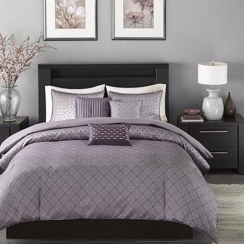 Madison Park Morris Purple Duvet Cover Set