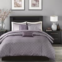 Madison Park Morris Purple Duvet Cover Set