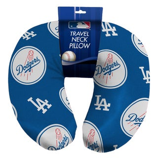 The Northwest Company Official MLB 117 Dodgers Beaded Spandex Neck Pillow