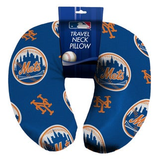 The Northwest Company Official MLB 117 Mets Beaded Spandex Neck Pillow