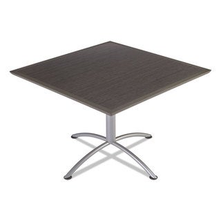 Iceberg iLand Dura Edge Grey Walnut/ Silver Square Bistro Style 42 in. W x 42 in. D x 42 in. H Table