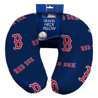 The Northwest Company Official MLB 117 Red Sox Beaded Spandex Neck Pillow