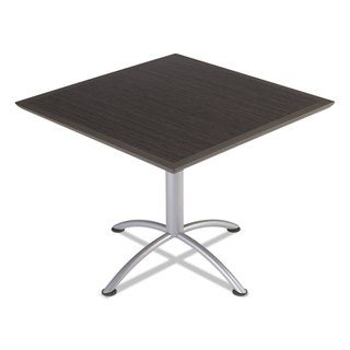 Iceberg iLand Dura Edge Grey Walnut/ Silver Square Bistro Style 36 in. W x 36 in. D x 42 in. H Table