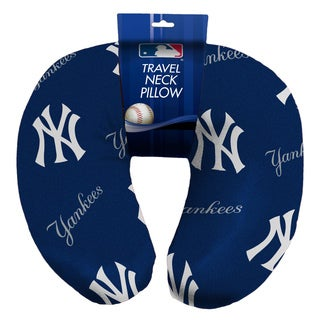 The Northwest Company Official MLB 117 Yankees Beaded Spandex Neck Pillow