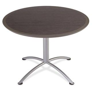 Iceberg Dura-Comfort Edge Rnd Hospitality Table - Gray Silver