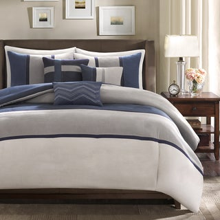Madison Park Warner Blue Duvet Cover Set