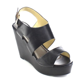 Beston AB37 Women's Cut Out Wedges Size 6 in Black(As Is Item)