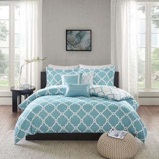 Madison Park Concord Aqua 6-piece Reversible Duvet Cover Set