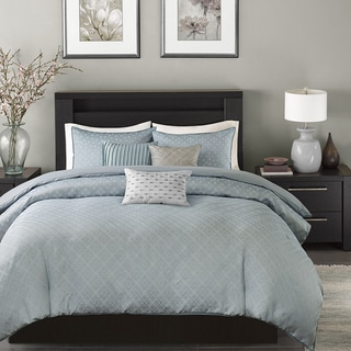 Madison Park Ventura Blue Duvet Cover Set