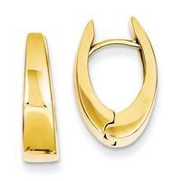 Versil 14k Yellow Gold Polished Hinged Hoop Earrings