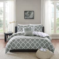 Madison Park Almaden Grey 6-piece Reversible Duvet Cover Set