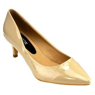 Beston GB79 Women's Kitten Heel Closed Toe Dress Pumps