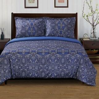 Superior Alderwood 300 Thread Count Reversible Cotton Duvet Cover Set