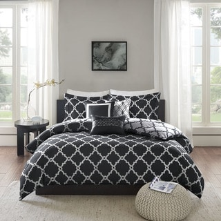 Madison Park Almaden Black 6-piece Reversible Duvet Cover Set