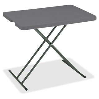 Iceberg IndestrucTable TOO 30 x 20-inch Charcoal Personal Folding Table